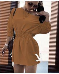 Šaty - kód 7470 - hněda