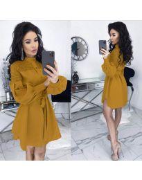 Šaty - kód 6364 - hořčičná