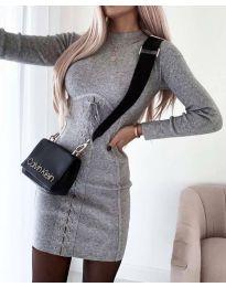Šaty - kód 4453 - 2 - šedá