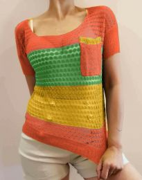 Дамска тениска от плетиво - код 7634 - 4