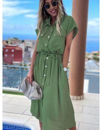 Šaty - kód 0014 - olivová  zelená