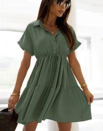 Šaty - kód 6292 - olivově zelená