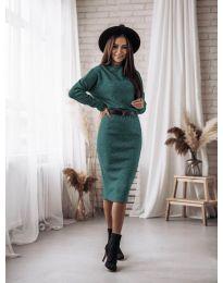 Šaty - kód 7719 - zelená