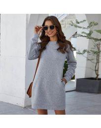 Šaty - kód 785 - šedá