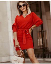 Šaty - kód 9876 - červená