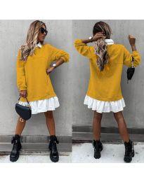 Šaty - kód 5516 - hořčičná