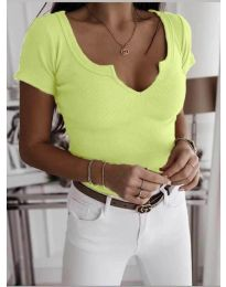 Tričko - kód 3667 - neon žuta