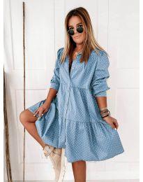 Šaty - kód 5557 - modrý