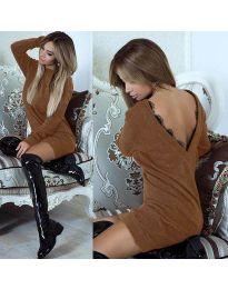 Šaty - kód 0502 - hněda
