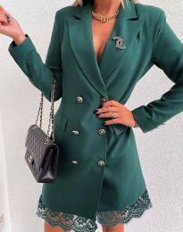 Šaty - kód 6955 - olivová  zelená