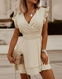 Šaty - kód 5654 - barva šampaňské