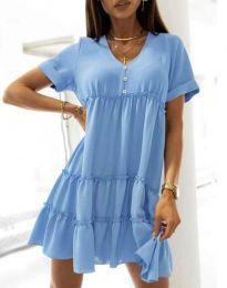 Šaty - kód 7205 - světle modrá