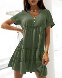 Šaty - kód 7205 - olivově zelená