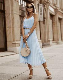 Šaty - kód 1249 - světle modrá