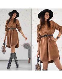 Šaty - kód 9601 - tmavě hnědá