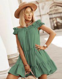 Šaty - kód 6969 - olivově zelená