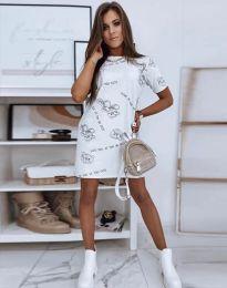 Šaty - kód 2906 - bílá