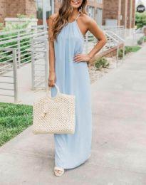 Šaty - kód 6258 - 2 - světle modrá