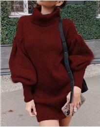 Šaty - kód 2884 - bordeaux