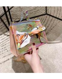 Дамска чанта с атрактивен дизайн от силикон с панделка - код B62 - 4