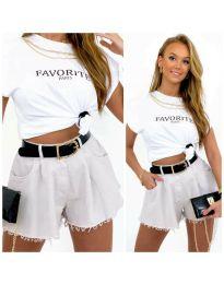 Krátké kalhoty - kód 4563 - 2 - bíla
