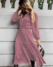 Šaty - kód 6522 - pudrová