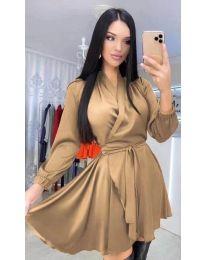 Šaty - kód 5931 - hněda