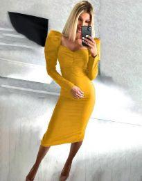 Šaty - kód 3865 - hořčičná