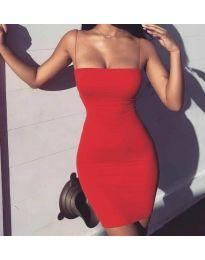 Šaty - kód 3687 - červená