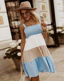 Šaty - kód 11922 - světle modrá