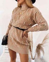 Šaty - kód 3904 - cappuccino