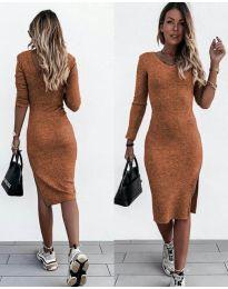 Šaty - kód 884 - hněda