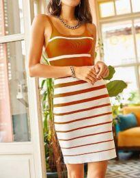 Šaty - kód 0998 - medové hnědá
