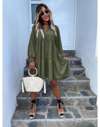 Šaty - kód 6643 - olivová  zelená