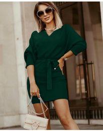 Šaty - kód 9876 - tmavě zelená