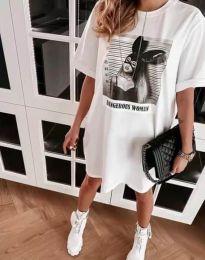Šaty - kód 2919 - bílá