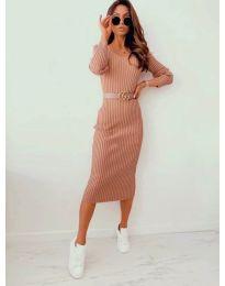 Šaty - kód 5878 - bežová