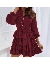 Šaty - kód 7356 - bordeaux