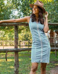 Šaty - kód 7735 - 3 - světle modrá