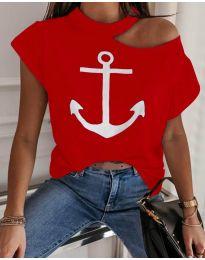 Tričko - kód 206 - červená