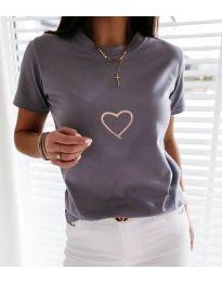 Tričko - kód 3700 - šedá