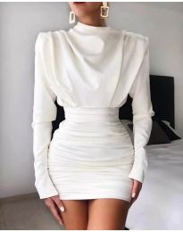 Šaty - kód 8257 - bílá