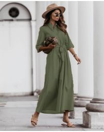 Šaty - kód 0900 - olivová  zelená