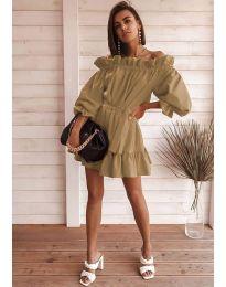 Šaty - kód 3386 - hněda
