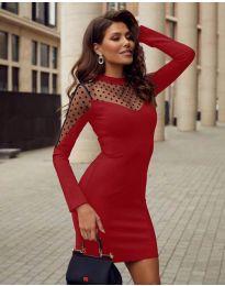 Šaty - kód 2484 - červená