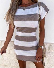 Šaty - kód 4633 - hněda
