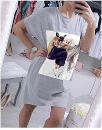 Šaty - kód 619 - šedá