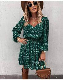 Šaty - kód 0366 - olivová  zelená