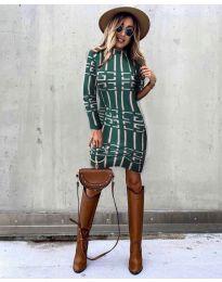 Šaty - kód 0258 - olivová  zelená