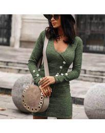 Šaty - kód 4516 - olivová  zelená